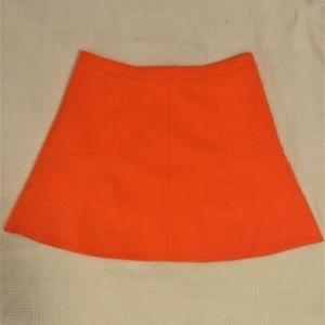 J Crew Flare Business Orange Skirt